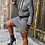 Thumbnail: Black/White - Two-piece Hooded Skirt Set