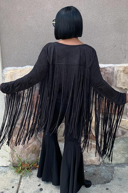 Black - Fringed Jacket