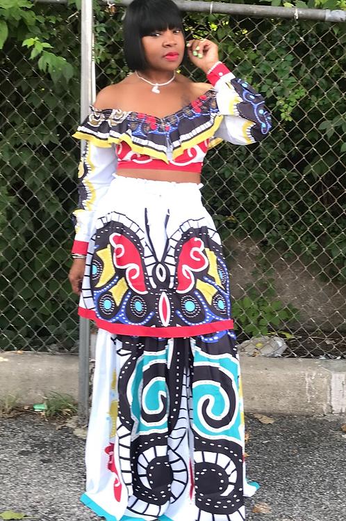 ButterflyTwo-piece Skirt Set