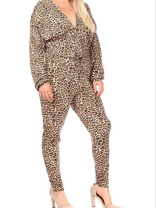 Cheetah Gal 2 Piece Hooded Set