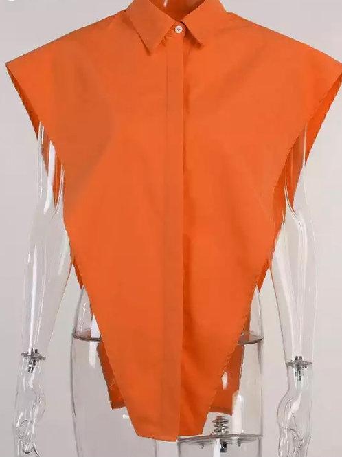 """""""Vee"""" Blouse (Orange)"""