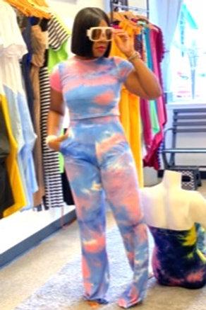 Two Piece Tie Dye Pants Set