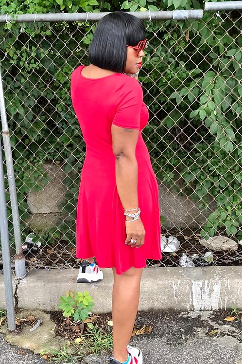 Red - BreeSkater Dress