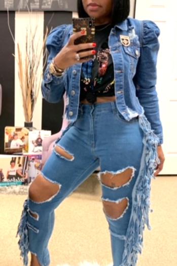 Shredded Denim Jeans