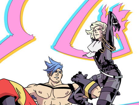 Galo Thymos and Lio Fotia from Studio Trigger's Promare