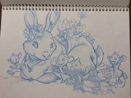 Ratones 3. Boceto para libro infantil