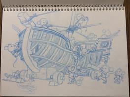 Ratones 5. Boceto para libro infantil