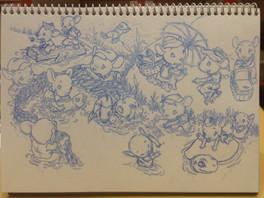 Ratones 4. Boceto para libro infantil