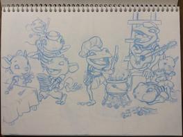 Ratones 2. Boceto para libro infantil