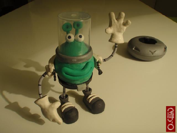 Extraterrestre para cortometraje de animación stop-motion
