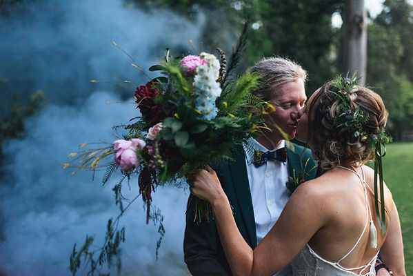 Beautiful Kiss Bride and Groom