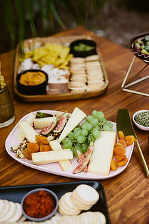 artisan cheese seed catering platter