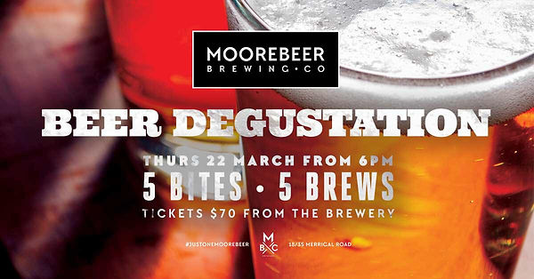 Beer Degustation at Moorebeer Brewer