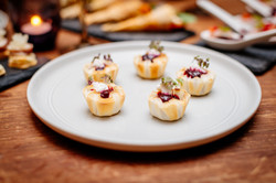 fancy wedding canapes