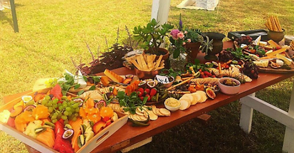 large cheese platter by seed catering