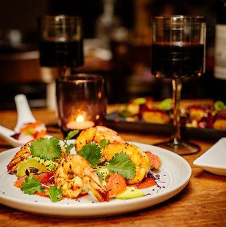 buffet menu share table