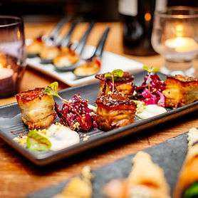 wedding canape pork belly share food delicious