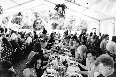 marquee dinner wedding main ourse