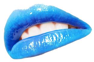 Bouche bleue, logo du groupe Blue Kiss.