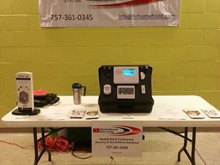 HR Homefront Security's Booth at the Ping Pong for Charity Event