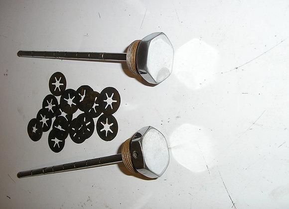 mooi verchroomde afdekwartels kroonplaat voorvork