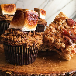 Campfire Cupcakes and Bacon Krispies