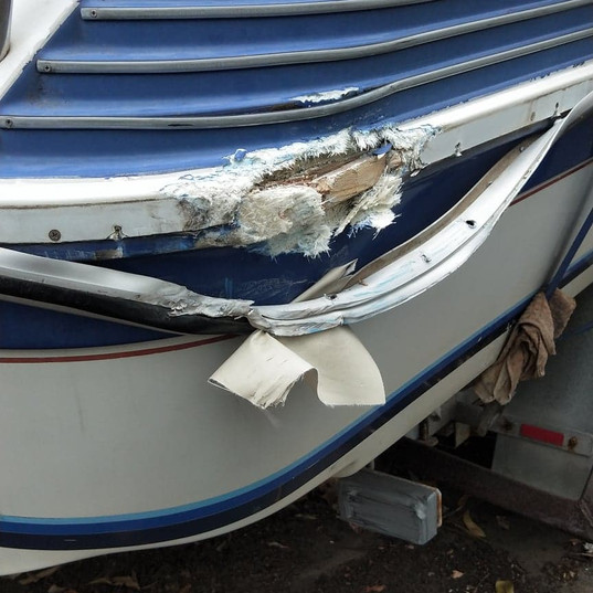 Boat Collision Damage Repairs Gold Coast