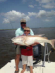 Fishing for giant redfish