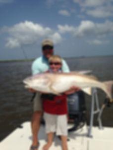 Fishing for giant redfish