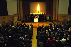 The lighting the candle of remembrance