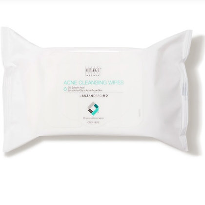 On the Go Cleansing Wipes for Oily or Acne Prone Skin