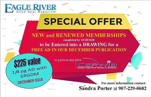SPECIAL offer for membership renewal 202