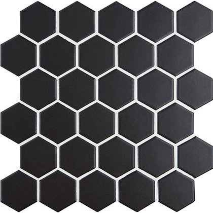 Nero hexagonal mosaic