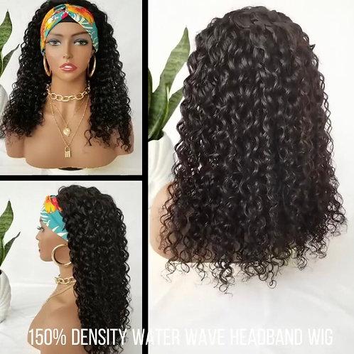 Human Hair Glue-less Headband Wig