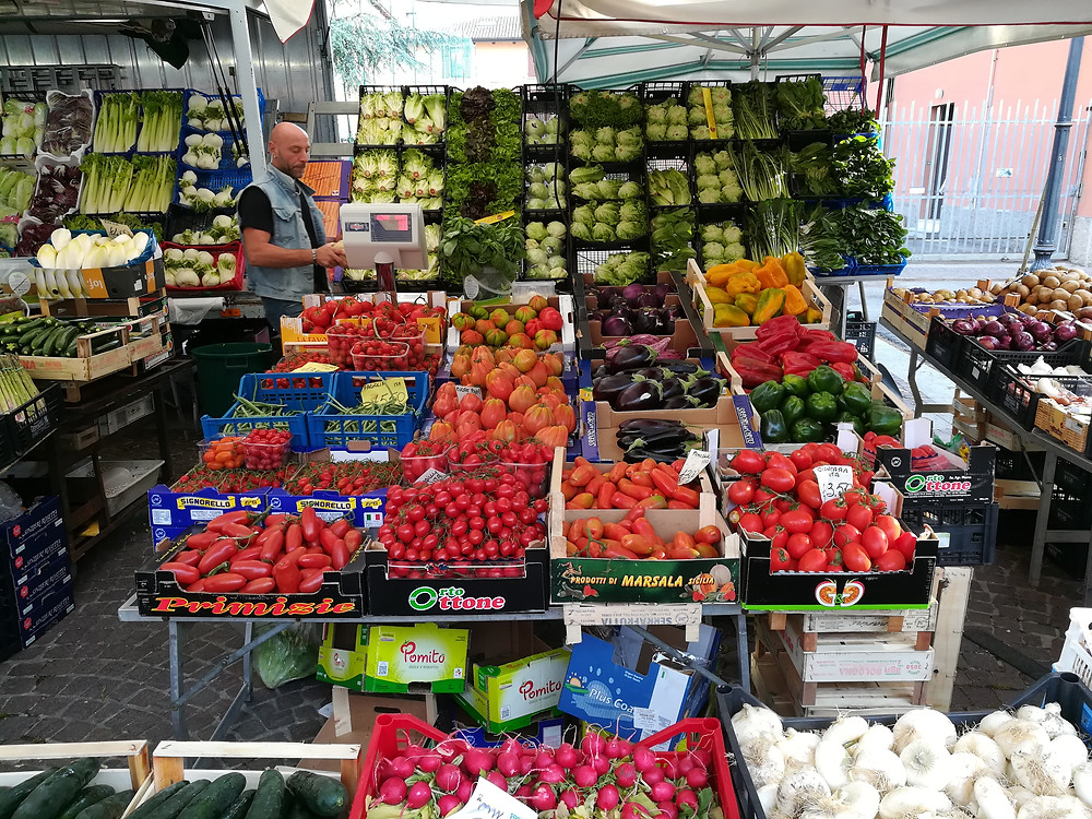 Fruit and veg in the Market of Bologna