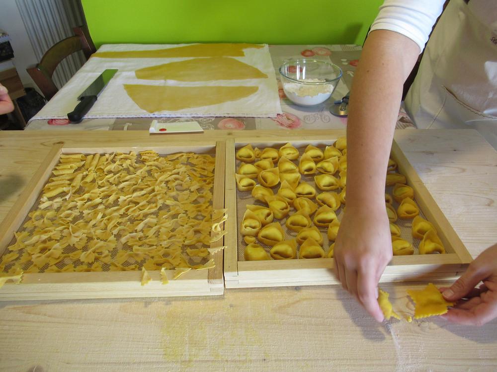 handmade fresh eggs pasta