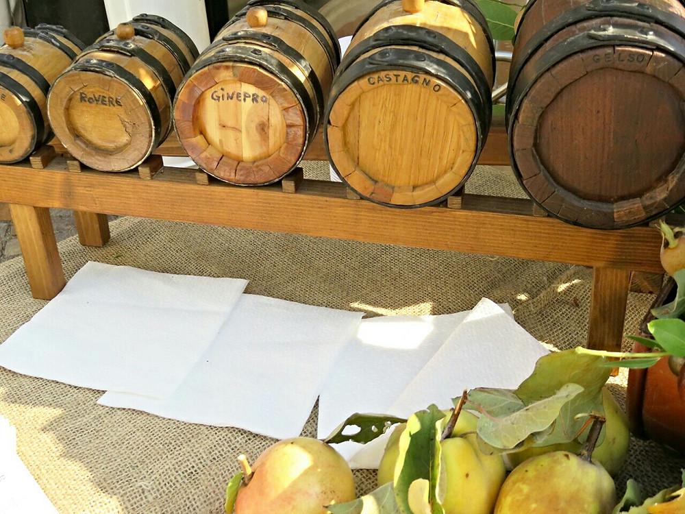 wooden barrels of Balsamic vinegar of Modena