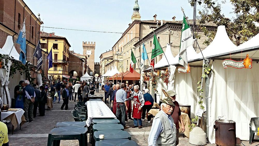 Spilamberto, Modena during the Mast Còt Festival