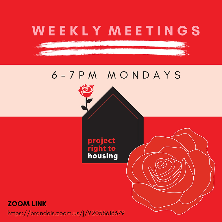 Project Right to Housing Weekly Working Meeting