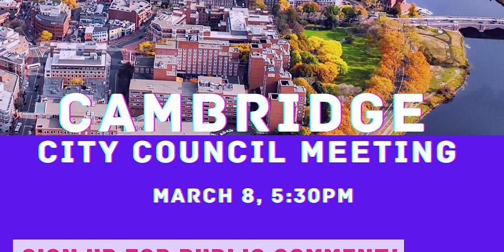City Council Meeting ~ Give Public Comment