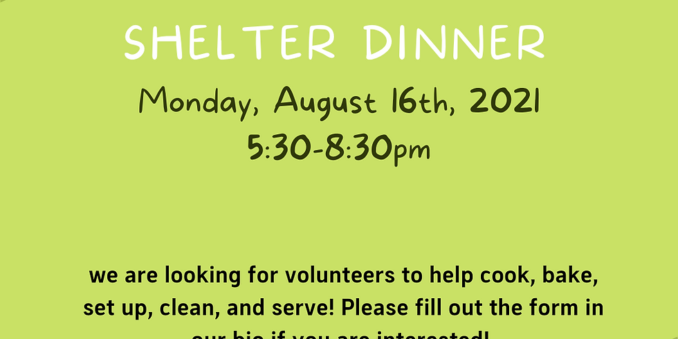 Green Street Shelter Dinner
