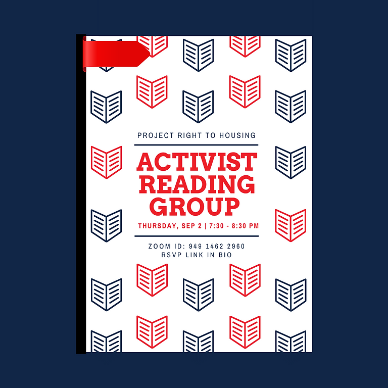 Project Right to Housing Activist Reading Group