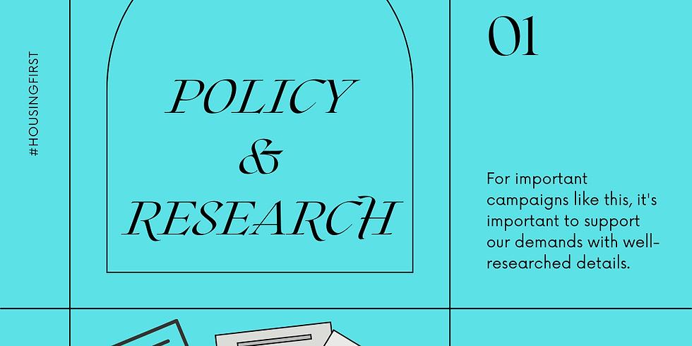 Policy Team Orientation: Weekly Working Meeting