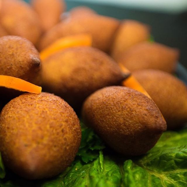 Taste our pumpkin kibbeh balls!Vegetarian speciality filled with spinach & chick peas.jpg Made fresh