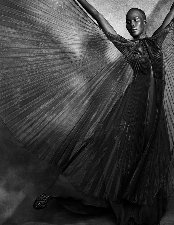 RED SILK SKIRT - FLOYD MULTICOLOR VELVET BOOTS - MIMOSA RED PLEATED CAPE - ESPACE COSTUME  Photograph:@carllessardphotographe Fashion Editor & Fashion Stylist :@joelle_eugenie_ Model :@evangeli_anteros Hair & MUA :@emiliemahglam
