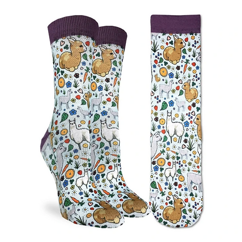 Women's Floral Llamas Socks