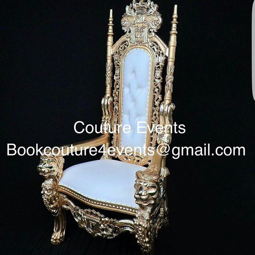 Planning And Event Of Elegance, Why Not Sit Like Royality. Our 6ft Throne  Chair Brings The Ultimate Royal Experience To Any Event.