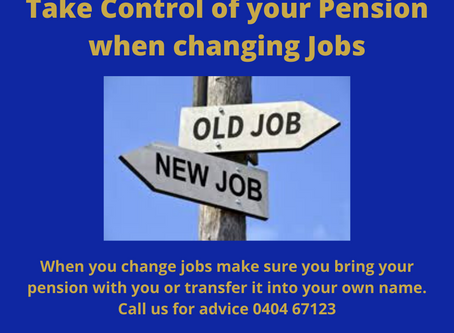 Take Control of your Pension when changing Jobs