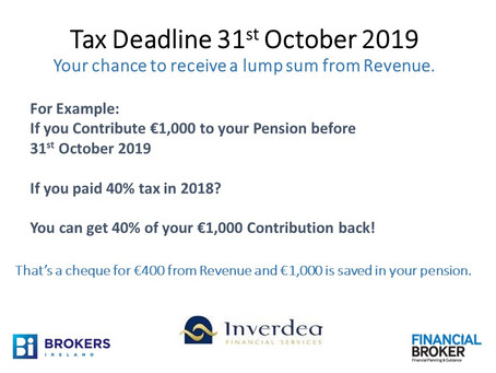 Tax Deadline of Oct 31st Approaching