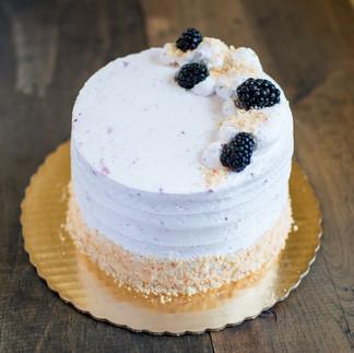 Blackberry Peach Cake